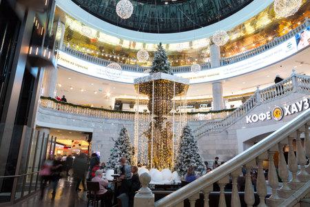 쇼핑 센터 몰 Okhotny ryad, Januar 7, 2018 in Moscow, 러시아