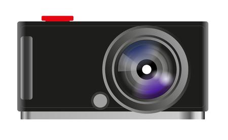 レトロな写真のカメラ  イラスト・ベクター素材