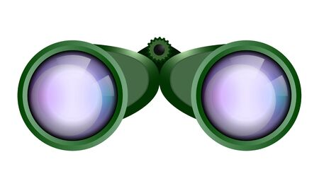 Big green binocular Ilustracja