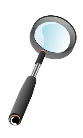 a magnifying glass on a soft handle Ilustrace