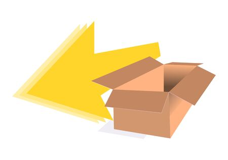 Packaging box vector delivery