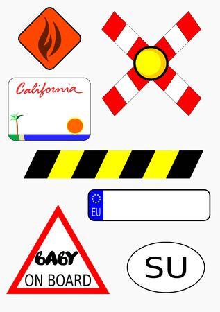 교통 표지 미국 및 유럽 번호