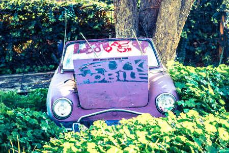 Abandoned Classic Sports Car