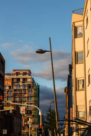Constrution and streetlight in the city
