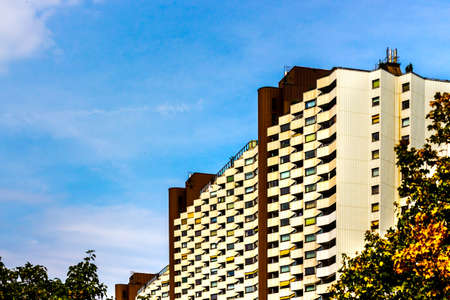 residential buildings in vienna, austria