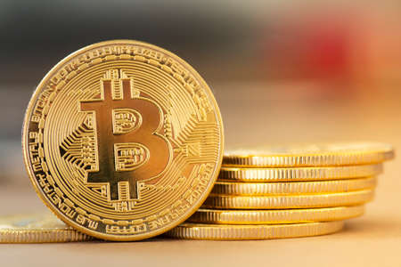 Digital Gold Bitcoin - Stock Image Stok Fotoğraf