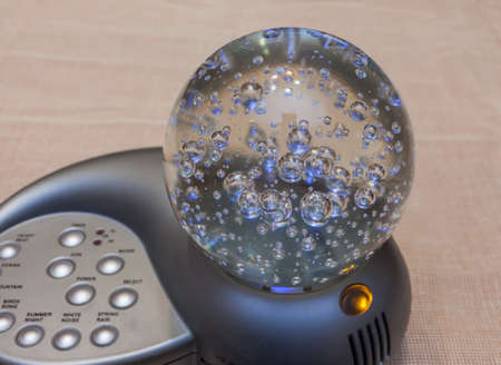 Glass globe with bubbles