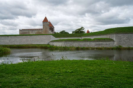 Kuressaare Castle with cloudy sky