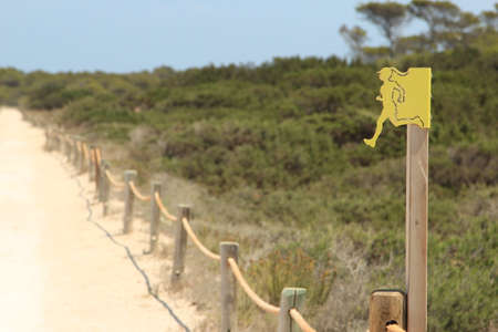 formentera: Path to Illetes beach, Formentera Stock Photo