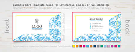 Corporate Visitenkarte Design Vorlage Gravierte Rose