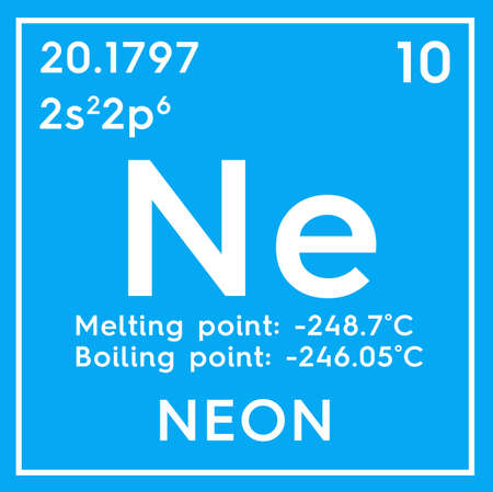 Neon Noble Gases Chemical Element Of Mendeleevs Periodic Table