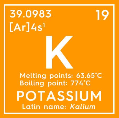 Potassium. Kalium. Alkali metals. Chemical Element of Mendeleev's Periodic Table.