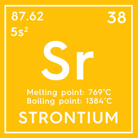 Strontium Alkaline Earth Metals Chemical Element Of Mendeleevs