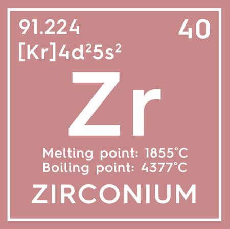 Zirconium transition metals chemical element of mendeleevs zirconium transition metals chemical element of mendeleevs periodic table zirconium in square cube urtaz Choice Image