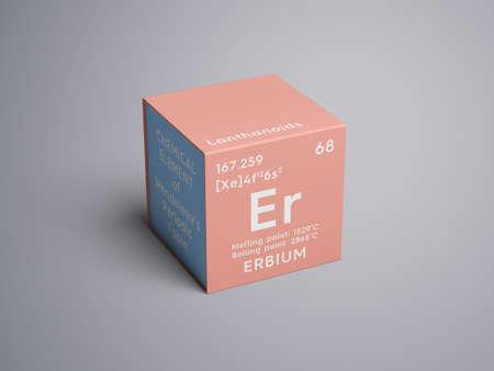 Erbio lantanoides elemento qumico de la tabla peridica de elemento qumico de la tabla peridica de mendeleev erbio en cubo cuadrado concepto creativo urtaz Choice Image