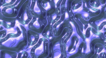 ripple: Mixed blue and white ripple liquid plastic wave surfaces. Seamless fluid different paint colors background textures. Stock Photo