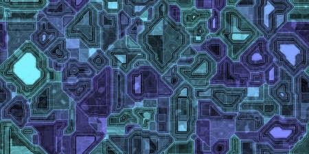 Hi-tech microscheme pattern background. Microchip network texture.