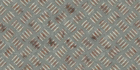 stainless: Seamless rusty military metallic diamond plate pattern surface. Dirty steel floor pattern texture.