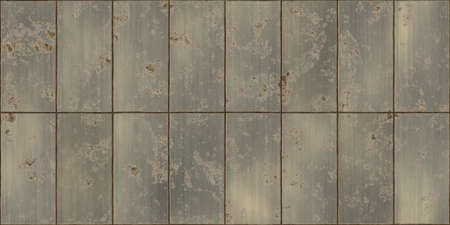 stainless: Dirty rusty bronze metal tiles shiny surface backgrounds. Metallic panels seamless texture.