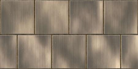 暗い金属の光沢のある表面の背景をタイルします。金属製パネルのシームレスなテクスチャです。