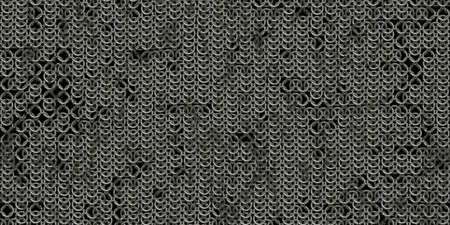 Chain mail background pattern. Seamless hauberk texture surface. Banque d'images
