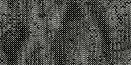 Chain mail background pattern. Seamless hauberk texture surface. Foto de archivo