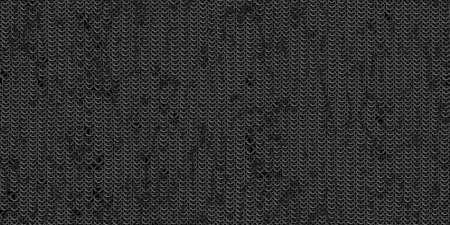 Chain mail background pattern. Seamless hauberk texture surface. Stock Photo