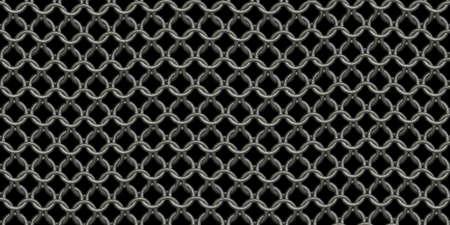 Chain mail background pattern. Seamless hauberk texture surface. Imagens