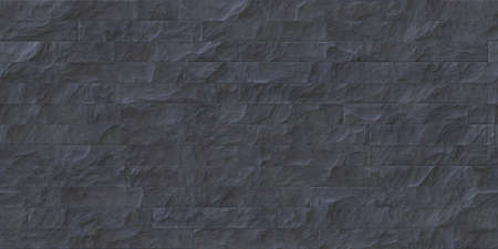 Slate gray outdoor stone cladding seamless surface. Stone tiles facing house wall.