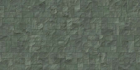Moss outdoor stone cladding seamless surface. Stone tiles facing house wall.