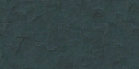 Boggy outdoor stone cladding seamless surface. Stone tiles facing house wall.