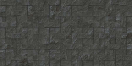 Gray outdoor stone cladding seamless surface. Stone tiles facing house wall.