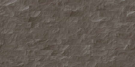 Brown outdoor stone cladding seamless surface. Stone tiles facing house wall.