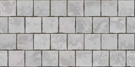 Aged Stone Tiles. Seamless Texture. 版權商用圖片