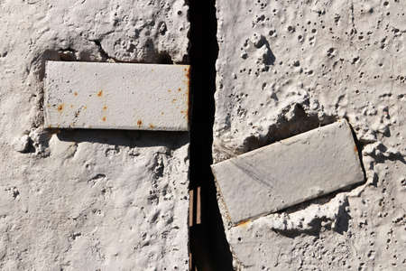Concrete Wall Texture with Metal Parts Slit