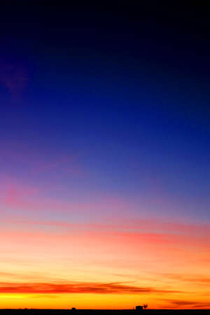 Dark Blue Clear Sky Color Gradient Background. Earth Landscape View.