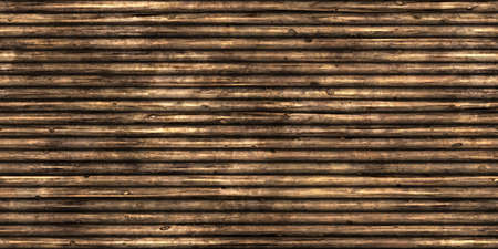 Wood Logs Wall Surface Background Texture. 3D Rendering. 3D Illustration.