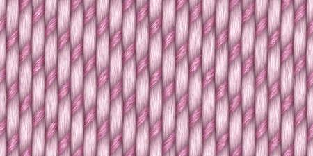 Pink Cross Weave Texture. Wicker Rattan Background Surface. 3D Rendering. 3D Illustration.