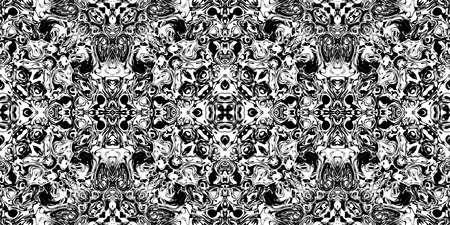 Comparison Rorschach Test Ink Blot Texture. Seamless Monochrome Darkness Pattern Background.