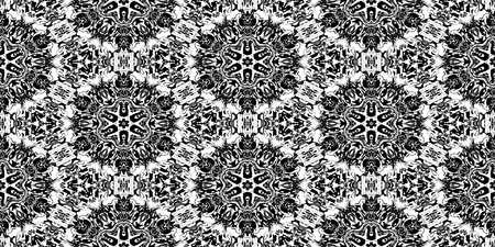 Symmetric Rorschach Test Ink Blot Texture. Seamless Monochrome Darkness Pattern Background. Stock Photo