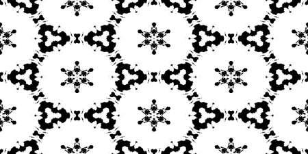 Symmetry Rorschach Test Ink Blot Texture. Seamless Monochrome Darkness Pattern Background. Stock Photo