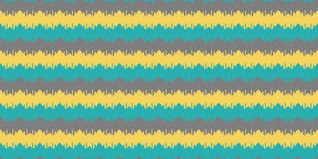 Blue Yellow Grey Chevron Geometry Background. Seamless Zigzag Texture. Modern Striped Pattern.