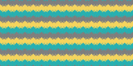 Blue Yellow Grey Chevron Geometry Background. Seamless Zigzag Texture. Modern Striped Pattern.