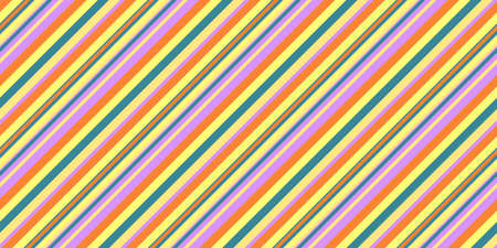 Bright Shine Seamless Inclined Stripes Background. Modern Colors Sidelong Lines Texture. Vintage Style Stripe Backdrop. Stock Photo