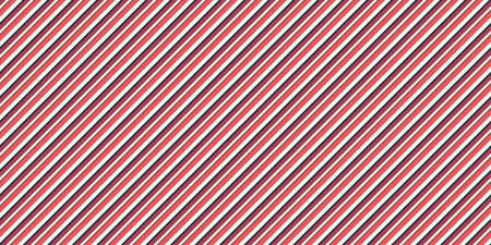 Red Seamless Inclined Stripes Background. Modern Colors Sidelong Lines Texture. Vintage Style Stripe Backdrop. Stock Photo