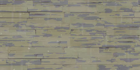 Seamless Weathered Bogie Wooden Planks Wall Texture. Wood Pieces Panel Background. 3d Rendering. 3d illustration.