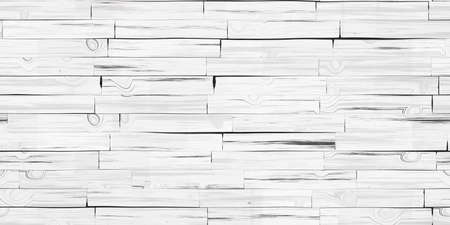 Seamless White Wooden Planks Wall Texture. Wood Pieces Panel Background. 3d Rendering. 3d illustration.