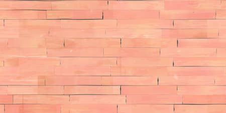 Seamless Peach Wooden Planks Wall Texture. Wood Pieces Panel Background. 3d Rendering. 3d illustration.