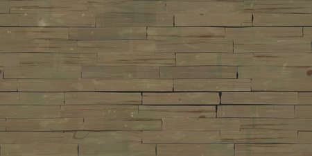 Seamless Brown Wooden Planks Wall Texture. 3d Rendering. 3d illustration. Stock Photo