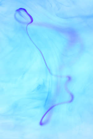 Ambient Ink Drop Line Dynamic Motion in Water. Soft Background. Stock Photo